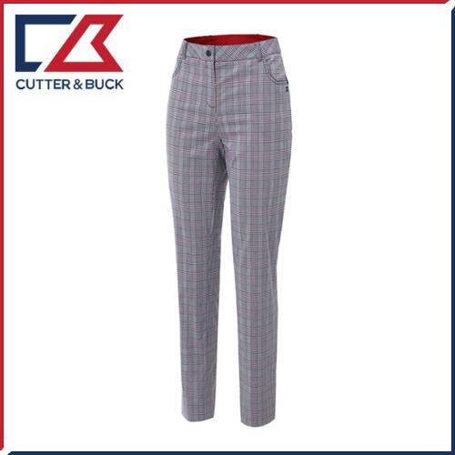 커터앤벅 여성 면 스판소재 체크무늬 골프바지/팬츠- PB-11-162-204-22