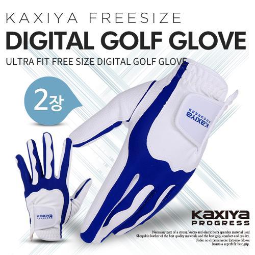 [카시야] 프로그레스 울트라핏 프리사이즈 디지털 골프장갑 2장