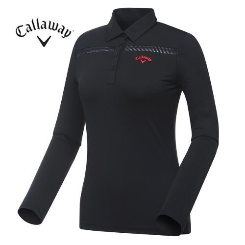 [캘러웨이]여성 메쉬 포인트 카라 티셔츠 CWTYF5102-199