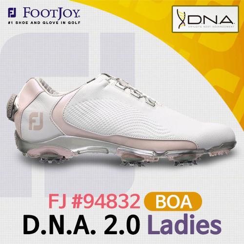 풋조이 FJ 17 94832 D.N.A. 2.0 BOA 여성 골프화[WH/ROS]