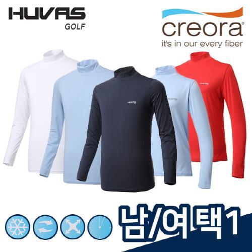 휴베스골프 HUVAS GOLF 남성/여성 ICE PLUS/CREORA 냉감 스판소재 기능성티셔츠 9종 택1