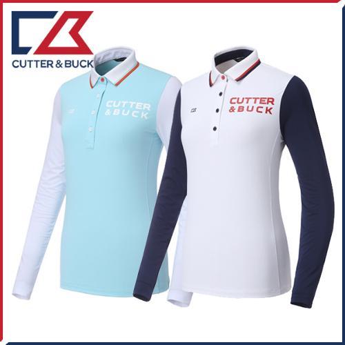 커터앤벅 여성 스판소재 소매 냉감포인트 카라 기능성티셔츠 - PB-11-172-201-11