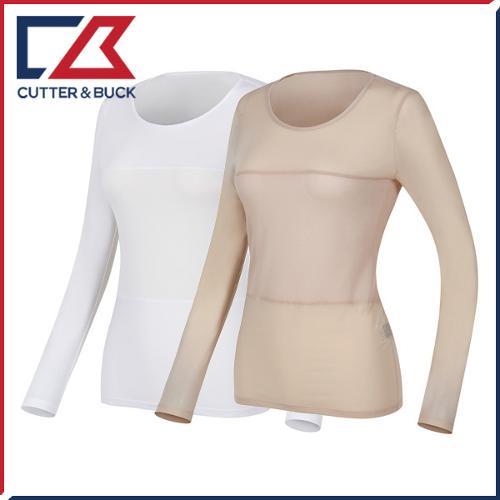 커터앤벅 여성 스판소재 절개포인트 라운드 기능성티셔츠 - PB-11-172-201-01