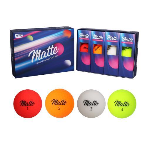 넥센 정품 MATTE 매트 4컬러 골프공/3피스/골프볼