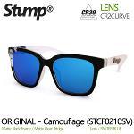 스텀프 패션 미러 선글라스 Camo (STCF0210SV)-Paster Blue Lens