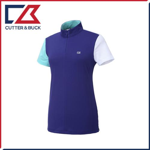 커터앤벅 여성 하프집업 스판소재 배색포인트 반팔티셔츠 - PB-11-172-201-35