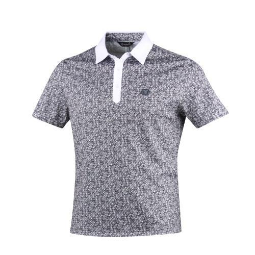 발렌시아 크리스탈 패턴 카라셔츠 NVA7M404