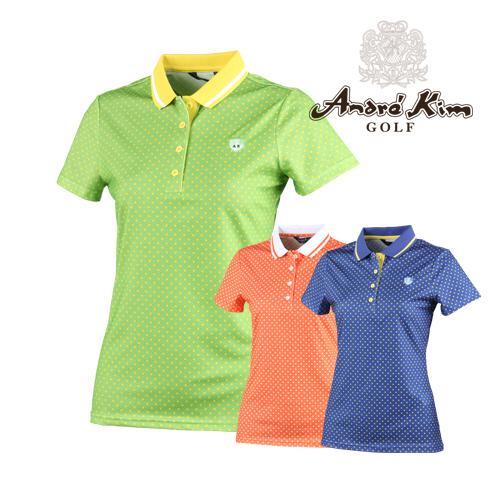 앙드레김 골프 여성용 도트 카라셔츠 매장판 AB7BWTS112
