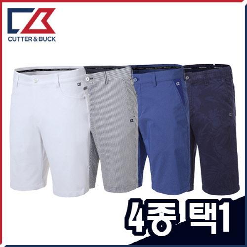 커터앤벅 남성 스판소재 스트레치 5부 골프반바지 2종 택1 (사은품 양말 2족 증정)