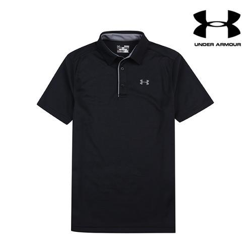 [언더아머] 남성 UV컷 기능성 티셔츠_BK_GA