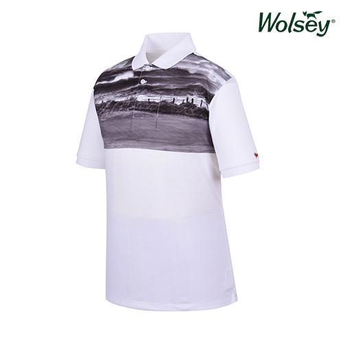 봄 여름 브릿라인 남성 반팔 티셔츠 W61MTP44UWT