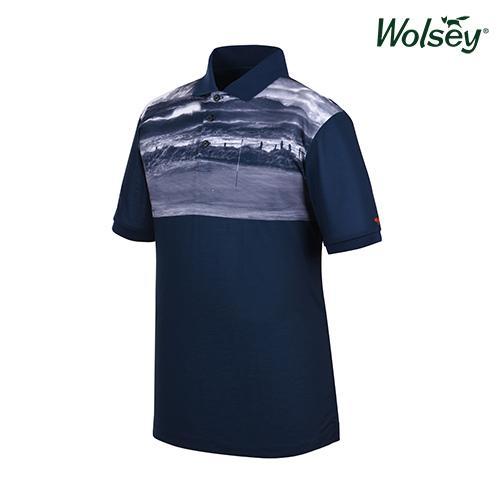 봄 여름 브릿라인 남성 반팔 티셔츠 W61MTP44UNV