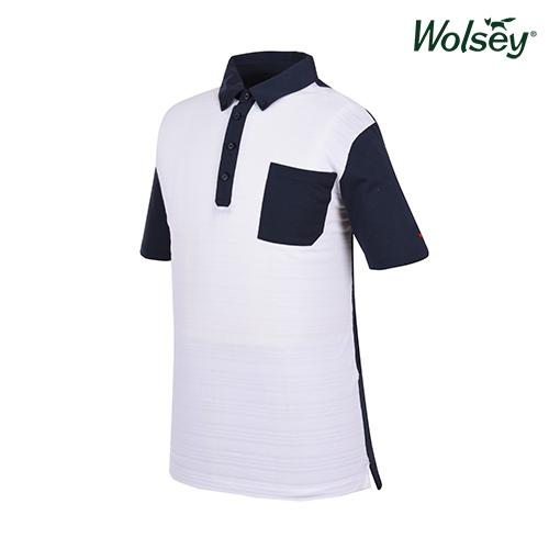 봄 여름 브릿라인 남성 반팔 티셔츠 W61MTJ45UWT