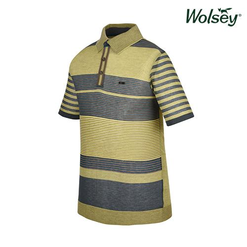 봄 남성 반팔 스웨터 W61MSP220GN