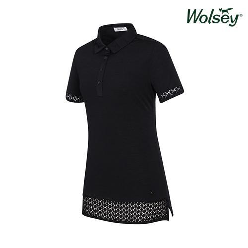 여름 여성 반팔 티셔츠 W52LTS58SBK