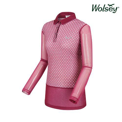 여름 여성 메쉬 긴팔 티셔츠 W62LTM870PP