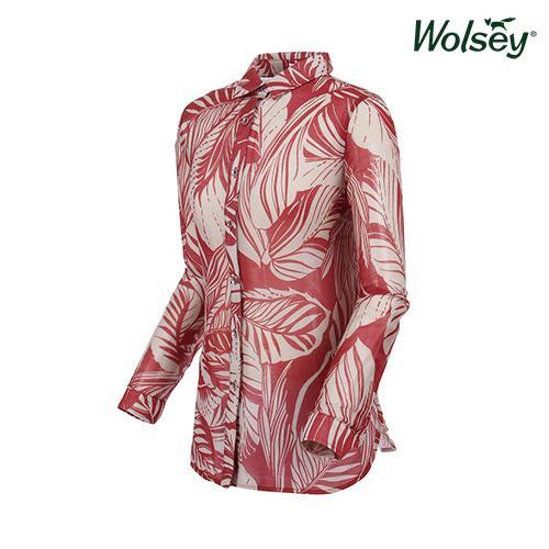 여름 여성 면실크 셔츠 W62LWP830WN