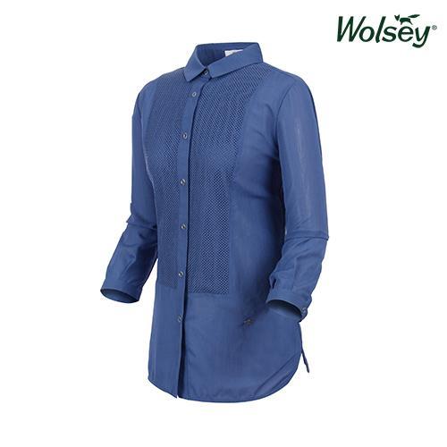 여름 여성 셔츠 W62LWS890BL