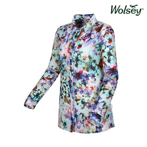 여름 여성 플라워 셔츠 W52LWP890BL