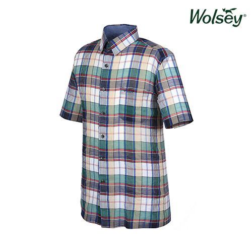 여름 남성 면혼방 반팔 셔츠 W62MWC590GN
