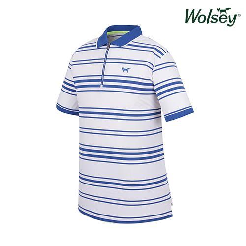 여름 남성 반집업 UV 반팔 티셔츠 W62MTJ63DBL