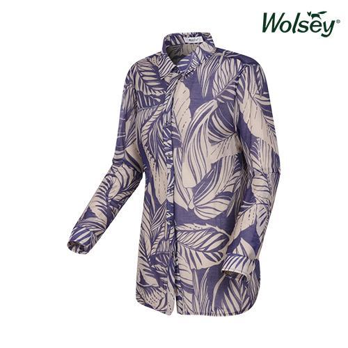 여름 여성 롤업 셔츠 W62LWP830BL