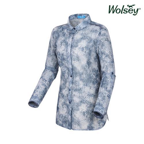 여름 여성 플라워 셔츠 W62LWP82RBL
