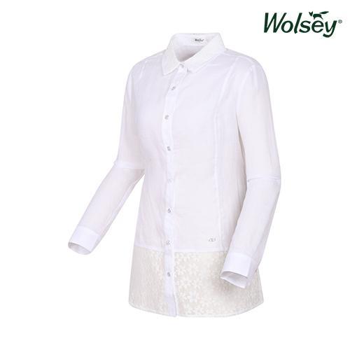2016 봄 여성 린넨 셔츠 W61LWS420WT