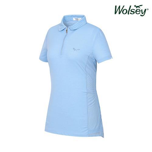 여름 여성 반집업 반팔 티셔츠 W62LTS550BL