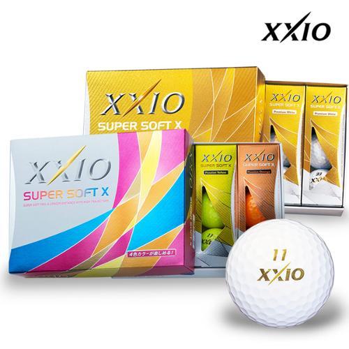 던롭코리아 XXIO SUPER SOFT X 슈퍼소프트 골프공 5종택 1 (3피스/12알)