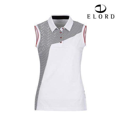 엘로드 프린트 카라 여성 민소매 티셔츠 골프상의