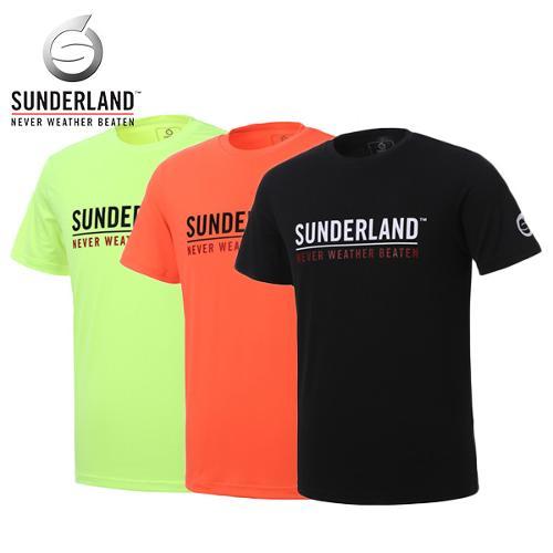 선덜랜드 SUNDERLAND 남성 스판소재 로고 프린팅 축구 라운드 반팔티셔츠 - 26621TS01