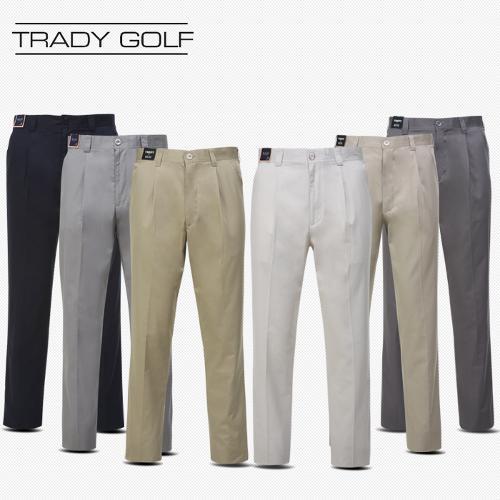 트래디[5028]여름 면혼방 원턱 골프바지