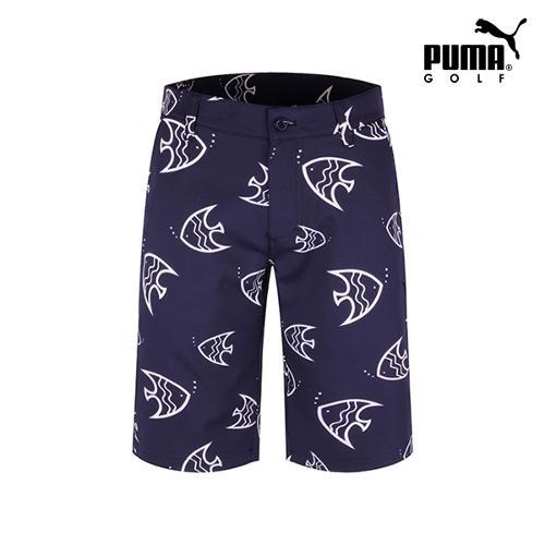 [푸마골프] 남성 물고기 패턴 하프 팬츠 923341-02_GA