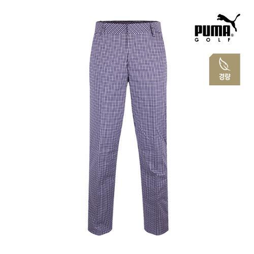 [푸마골프] 남성 플래드 패턴 경량 팬츠 571524-02_GA