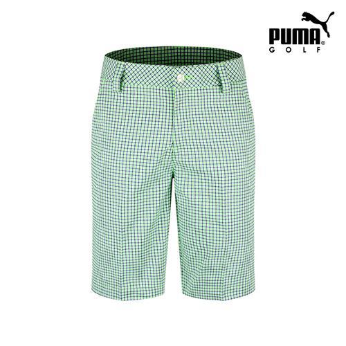 [푸마골프] 남성 플래드 패턴 하프 팬츠 571560-05_GA
