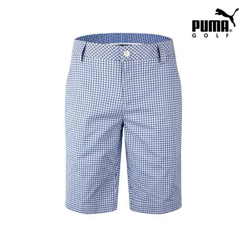 [푸마골프] 남성 플래드 패턴 하프 팬츠 571560-03_GA