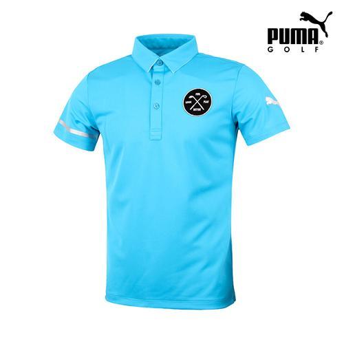 [푸마골프] 남성 와펜 패치 반팔 티셔츠 923332-03_GA