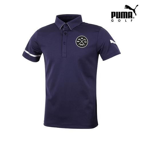 [푸마골프] 남성 와펜 패치 반팔 티셔츠 923332-01_GA