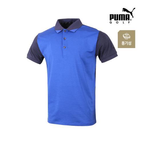 [푸마골프] 남성  배색 팬턴 반팔 티셔츠 571577-02_GA