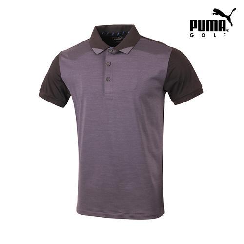 [푸마골프] 남성  배색 팬턴 반팔 티셔츠 571577-01_GA