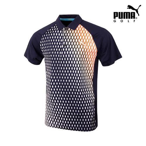 [푸마골프] 남성 PWR COOL 프린트 반팔 티셔츠 571594-01_GA