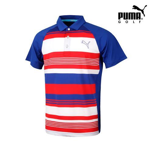 [푸마골프] 남성 멀티스트라이프 반팔 티셔츠 571525-03_GA