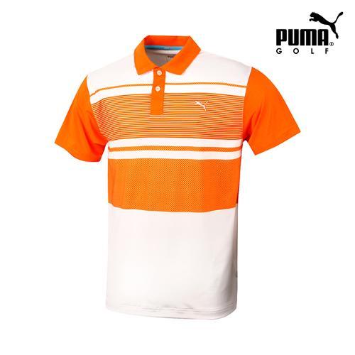 [푸마골프] 남성 컬러블럭 반팔 티셔츠 571495-03_GA