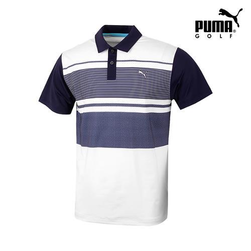 [푸마골프] 남성 컬러블럭 반팔 티셔츠 571495-01_GA