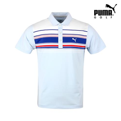 [푸마골프] 남성 배색 기능성 반팔 티셔츠 571501-04_GA