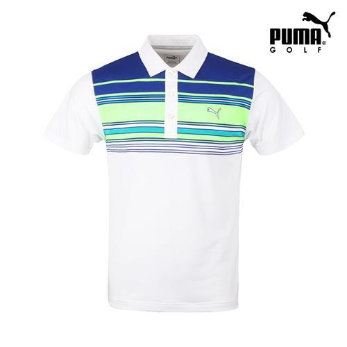[푸마골프] 남성 배색 기능성 반팔 티셔츠 571501-01_GA