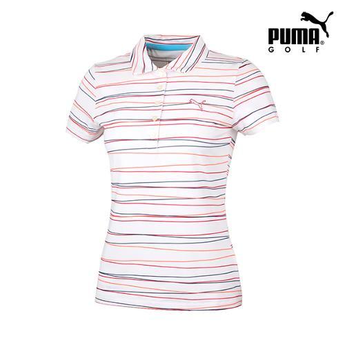 [푸마골프] 여성 멀티스트라이프 반팔 티셔츠 571563-01_GA