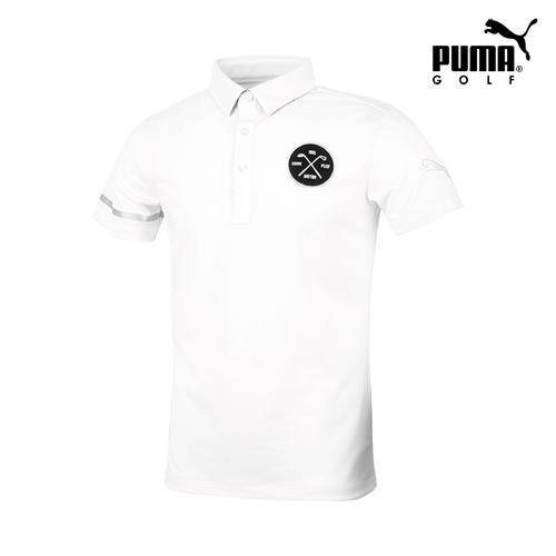[푸마골프] 남성 와펜 패치 반팔 티셔츠 923332-04_GA