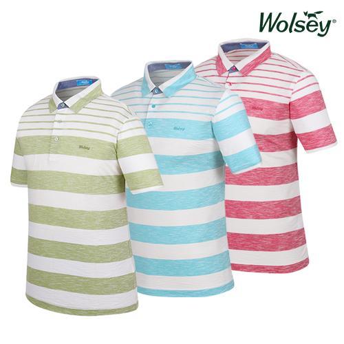 울시(wolsey) 남성 스트라이프 반팔티셔츠 W62MTJ56R 3종 택1